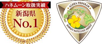 ハネムーン取扱実績新潟県No1